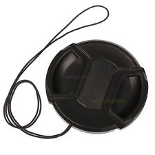 Universal 46mm Center Pinch Front Lens Cap for DSLR Camera wd