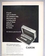 Caron Perfume Set PRINT AD - 1964