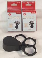2-Triple Folding Pocket Magnifier Loupe 5X 10X 15X Magnifying Glass Lens #ML26B