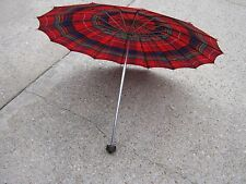 Vintage Used Umbrella Parasol Multi Color Red Blue Green Yellow good for decor