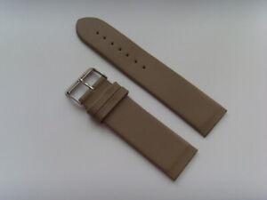 Watch Strap Leather Grey 22 MM To Screw For E.g. Skagen BERING Boccia Obaku