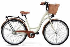 Goetze 28 Zoll Eco Damenfahrrad Herrenfahrrad Retro Fahrrad cream weidenkorb