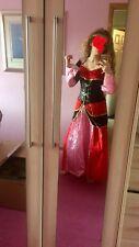 Rosso e Nero Regina di Cuori Costume adolescenti/ADULTO. Taglia 10-12