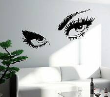 Wall Sticker Sexy Hot Eyes Girl Teen Woman Big Decal For Living Room Decor z2561
