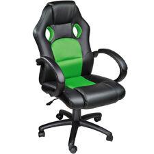 Poltrona sedia ufficio girevole per casa studio sportiva racing nero verde nuovo