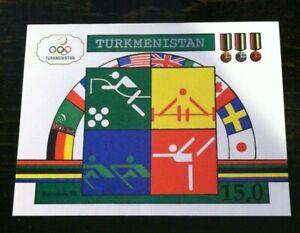 1992 Turkmenistan Postage stamp Summer Olympics Mint Souvenir Sheet