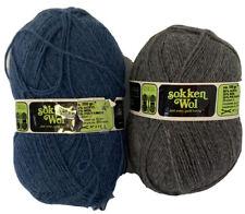 Lot 2 Sokken Wol Hema Yarns Grey Blue Navy 100 Grams Need Work Knitting