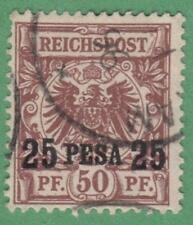 German East Africa #5 used 25p on 50pf 1893 cv $27.50 signed