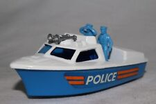 MATCHBOX SUPERFAST #52 POLICE LAUNCH BOAT, W/ AIR HORNS, EXCELLENT, ORIGINAL, #2