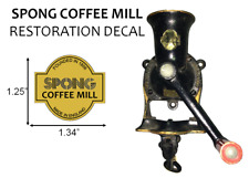 SPONG Coffee Grinder Mill Restoration Decal