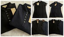 Burberry Women's Polo Check Trim Stretch Pique Polo Shirt