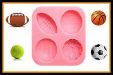 FOOTBALL TENNIS SOCCER ECT SILICONE MOULD. PERFECT FOR FONDANT SUGAR CRAFT ECT