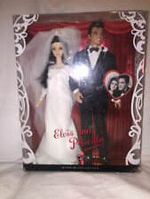 Collectible 2008 Elvis and Priscilla Barbie Doll Gift Set MIB Pink Label