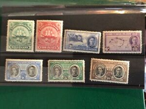 Turks & Caicos stamps GVI 1948 100 years separation from Bahamas MNH