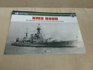 Informative leaflet AtlasEditions WWII 2nd World War British battleshipHMS Hood