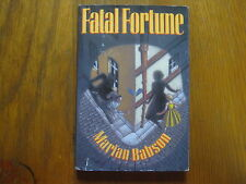 "MARIAN  BABSON  Signed   Book  (""FATAL  FORTUNE""-1991  First U. S. Edition)"