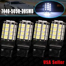 4x Super White 7440 5050 36-SMD Backup Reverse LED Light Bulbs W21W 7441