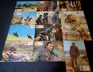 1976 The Outlaw Josey Wales ORIGINAL SPAIN LOBBY CARD SET Clint Eastwood WESTERN