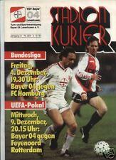 EC III 87/88 Bayer 04 Leverkusen - Feyenoord Rotterdam, 02.12.1987