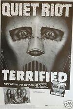 "Quiet Riot ""Terrified"" U.S. Promo Poster - Hard Rock / Metal Music"