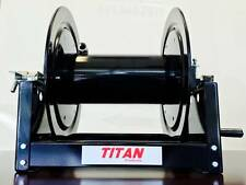 "Titan 12"" 300 ft 3/8"" Manual Pressure Washer Hose Reel w/ Steel Swivel"