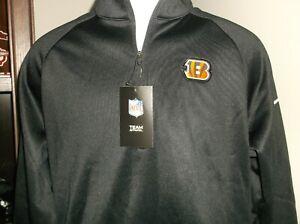 Cincinnati Bengals Nike Therma Fit 1/4 Zip Pullover Men's Medium nwt Free Ship