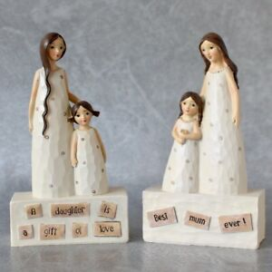 Loving Mother And Daughter Resin Statue