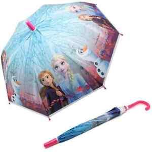 Disney Frozen II Childrens Umbrella Kids School Bubble Dome Travel Brolly 3488