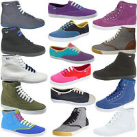 Keds Champion Canvas Lace Up Hi Low Top Lightweight Womens Trainers Plimsolls