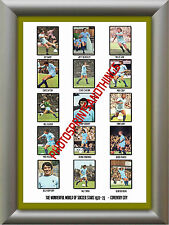 COVENTRY CITY - 1972-73 - REPRO STICKERS A3 POSTER PRINT