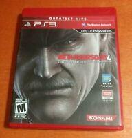 Metal Gear Solid 4 Guns Of The Patriots Sony PlayStation 3 PS3 Konami  hideo