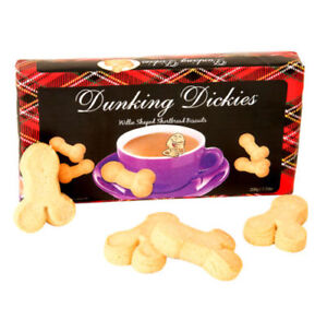 DUNKING DICKIES Willy SHORTBREAD BISCUITS Gift Women Gay Valentine's Day