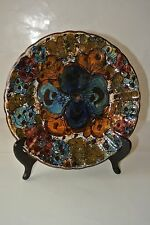 Morelli Pottery Colorful Pansy Plate Made in Italy Hand Painted/Mint