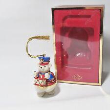 LENOX BEAR BOX CHRISTMAS Ornament A GREAT WAY TO HIDE GIFT on TREE New (1ZLF)