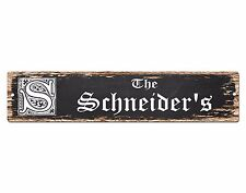 SP0887 The SCHNEIDER Family name Sign Bar Store Shop Cafe Home Chic Decor Gift