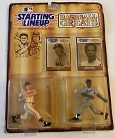 Eddie Mathews & Hank Aaron - Starting Lineup Baseball Greats Kenner 1989 A
