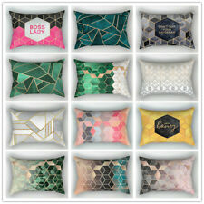 30cm*50cm Rectangle Cushion Cover Sofa Polyester Throw Pillow Case Geometric