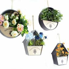 Wall Hanging Plant Holder Iron Vase For Artificial Flowers Wedding Home Decor