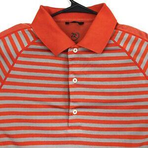 Zero Restriction Sz Medium Tour Series Mens Short Sleeve Golf Polo Shirt Orange