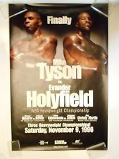 MIKE TYSON vs. EVANDER HOLYFIELD I: FINALLY 11/09/1996 - ON-SITE BOXING POSTER
