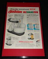 1955 Sunbeam Mixmaster Framed 11x17 ORIGINAL Advertising Display