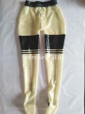 100% Latex Rubber Women Sexy Pants With Crotch Zipper Size XXS-XXL