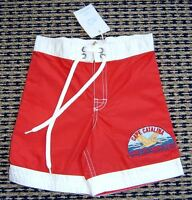 COUNTRY ROAD BOYS RED BOARD SHORTS SZ 1 (12 - 18 MTHS) NEW WITH TAGS