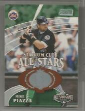 2001 Stadium Club Baseball All-Star Mike Piazza Game Used Jersey Card # 246/1200