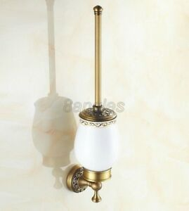 Bathroom Accessories Wall Mount Antique Brass Toilet Brushes Holders 8ba490
