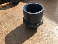 """Pipe Hex Reducer  2""""  BSP Male To 60 mm X 75 mm Solvent Weld PVC"""