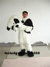 Popular Long Fur Dog Mascot Costume Dogs Cosplay Party Game Fancy Dress Adults