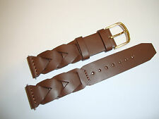 Timex Brown Braided Watchband 19mm Leather w/ Spring Bars