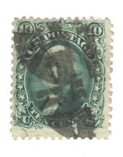 Scott 89 Early US Stamp 10c Washington...1868...  E Grill