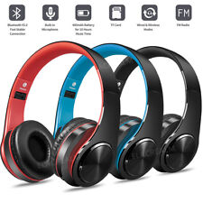 Bluetooth Headset Wireless Stereo Earphone Over-Ear Foldable Headphones With Mic